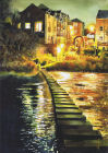 Morpeth Stepping Stones - Watercolour